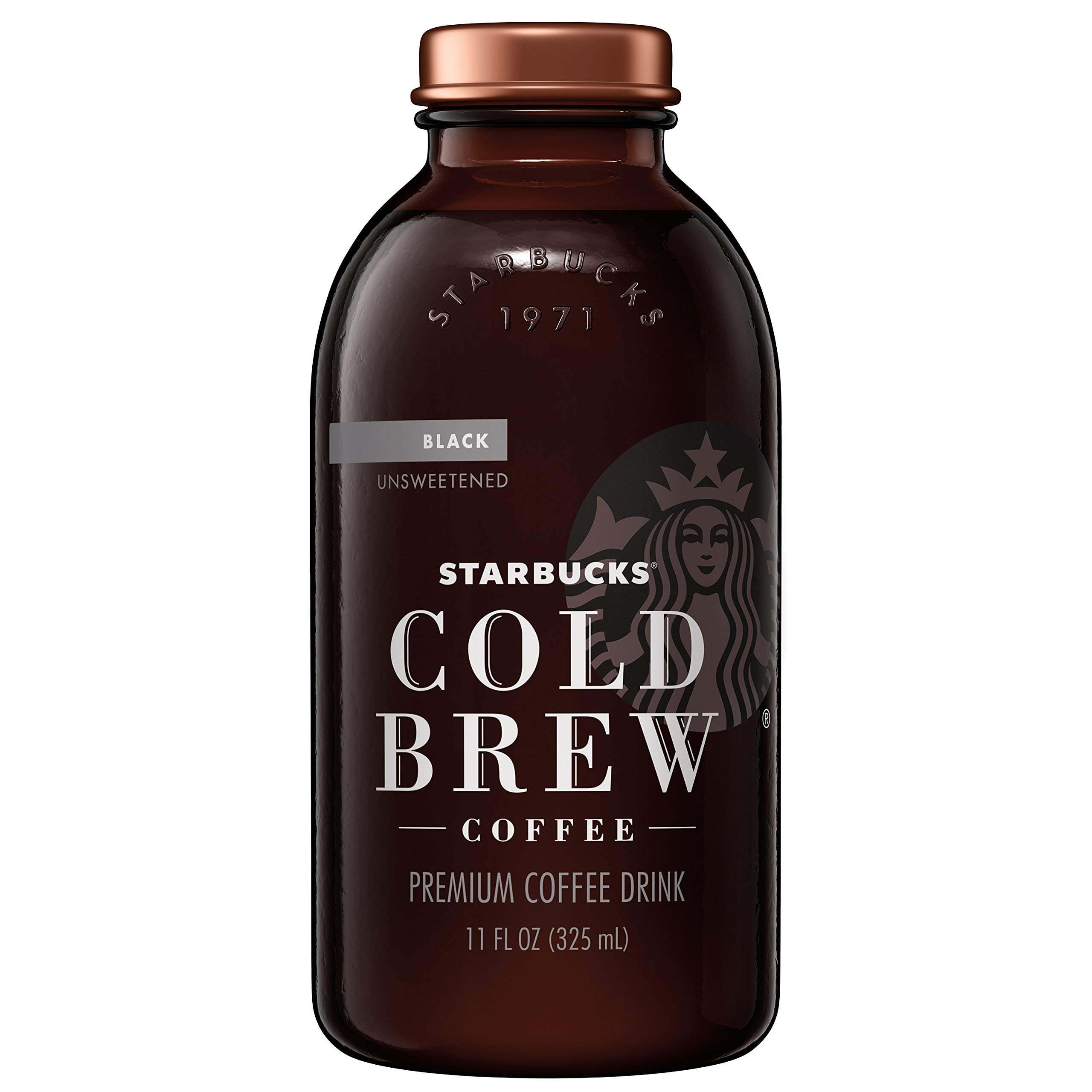 Starbucks Cold Brew Coffee, Black Unsweetened, 11 oz Glass Bottles, 6 Count by Starbucks (Image #1)