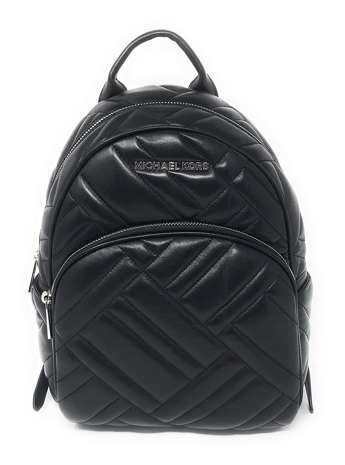 373769270b05 Amazon.com: Michael Kors Abbey Medium Chevron Quilted Leather Backpack Black:  Shoes