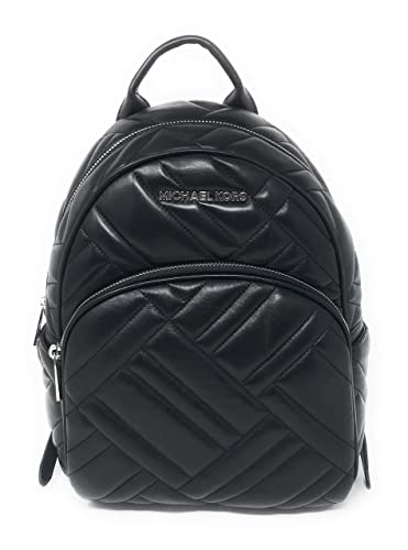 Amazon.com  Michael Kors Abbey Medium Chevron Quilted Leather Backpack Black   Shoes cfbdbf0b5598e