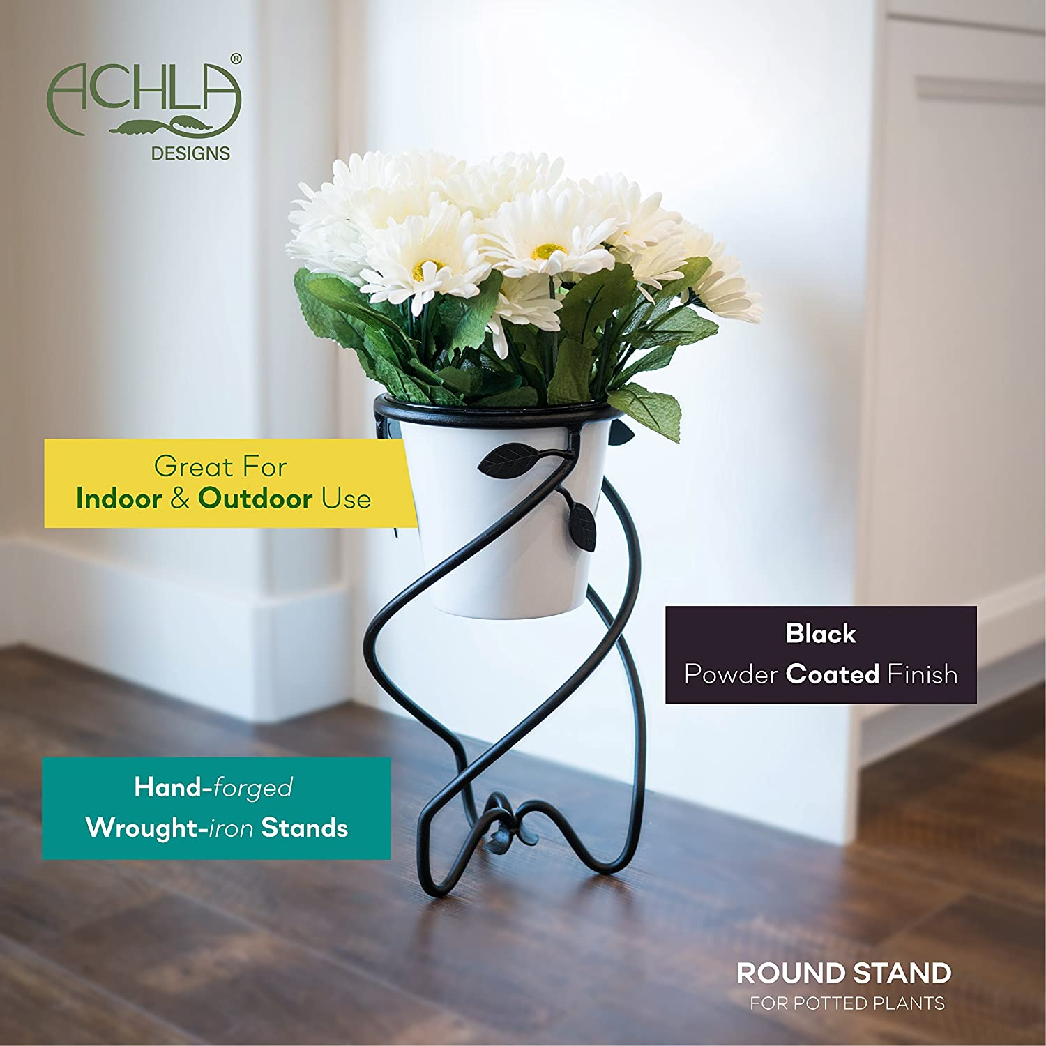 Flower Stand Designs : Amazon achla designs helix flower pot plant stand in h
