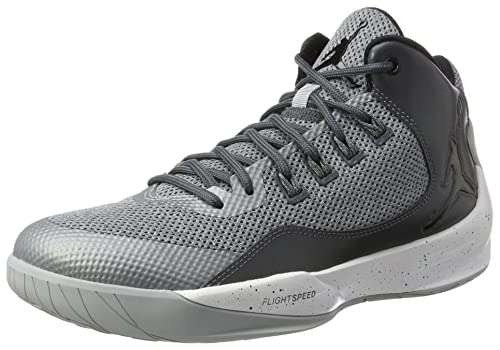 aef9183429b4b6 Jordan Men s Grey Black Dark Grey Jordan Rising High 2 Basketball Shoe - 10  D(M) Us  Buy Online at Low Prices in India - Amazon.in