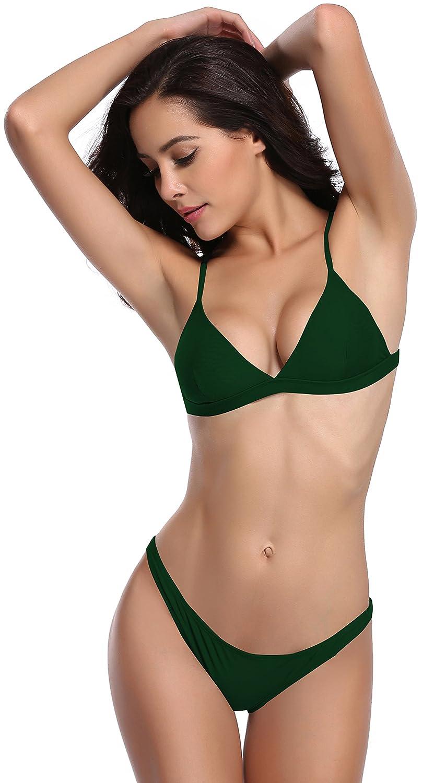 412be0f3f3eef Amazon.com  SHEKINI Women s Triangle Bikini Bathing Suits  Clothing