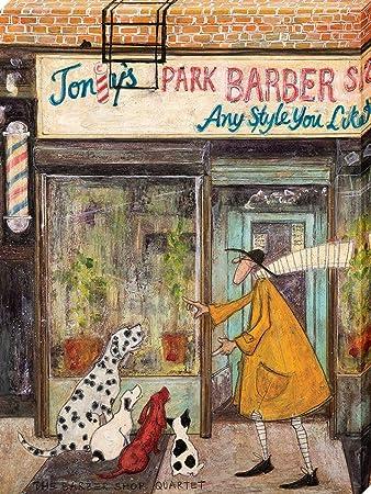 the art group sam toft the barber shop quartet canvas print wood multi