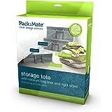 Packmate ® Jumbo Stackable Rigid Vacuum Storage Tote Including Built In Vacuum Storage Bag