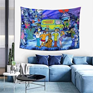 Tapestry Wall Hanging Cartoon Scooby doo Tapestry Wall Art Decoration for Bedroom Living Room Dorm One Size