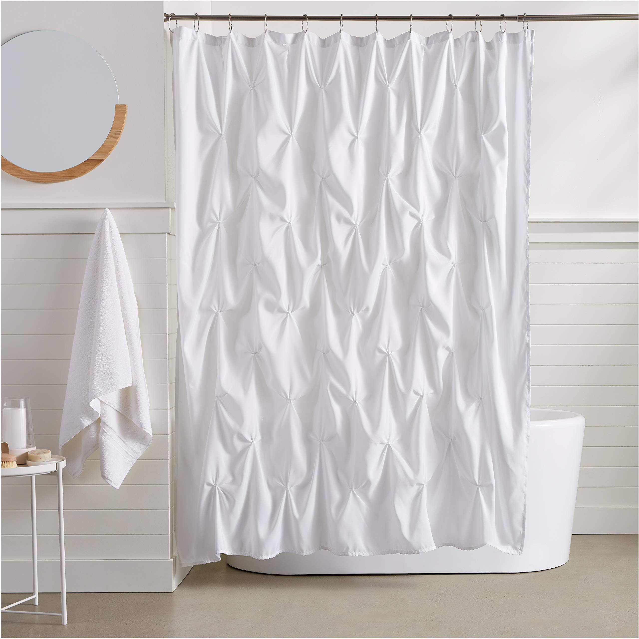 AmazonBasics Pinch Pleat Shower Curtain - 72 Inch, White by AmazonBasics