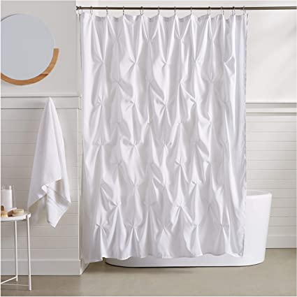 Image Unavailable Not Available For Color AmazonBasics Pinch Pleat Shower Curtain
