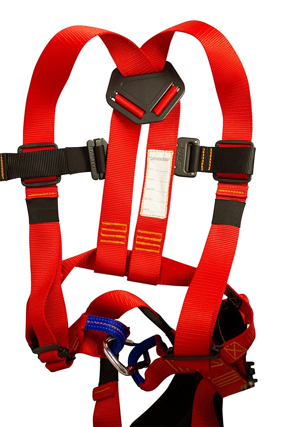 Fusion Climb Warrior Kids Full Body Climbing Rope Course Harness Red//Black KH-201B-RED