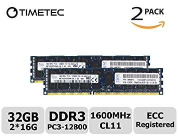 PC3-12800 2x16GB DELL POWEREDGE C2100 C6100 M610 M710 R410 M420 R515 MEMORY Ram