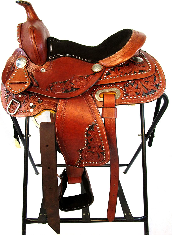 12 13 Custom Pony Kids Youth Pleasure Trail Barrel Saddle Leather Western Horse