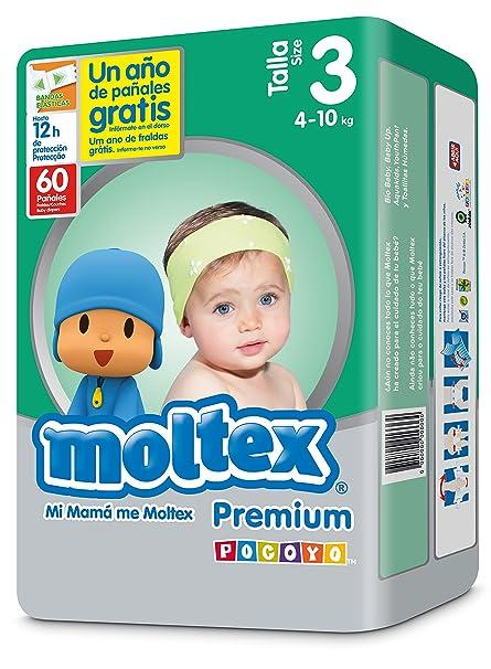 Moltex Premium Bolsa de Pañales Desechables - 60 Pañales