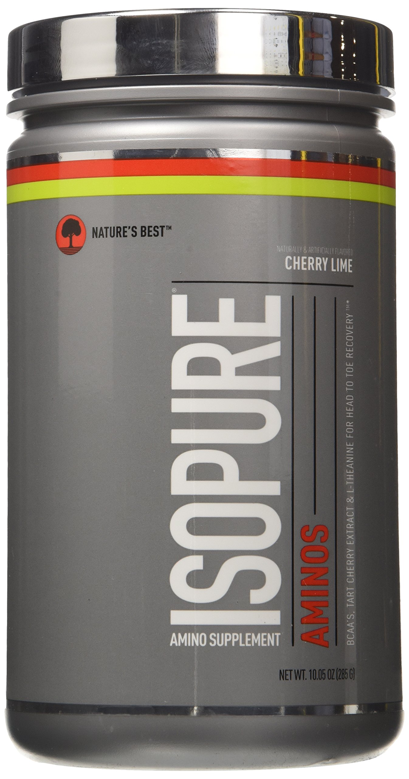 Isopure Amino Supplement, with BCAAs, Essential Amino Acids and L-Theanine, Flavor: Cherry Lime, 285 Gram