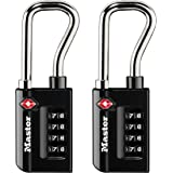 Master Lock 4696T Set Your Own Combination TSA Approved Luggage Lock, Numeric 2 Pack, Black