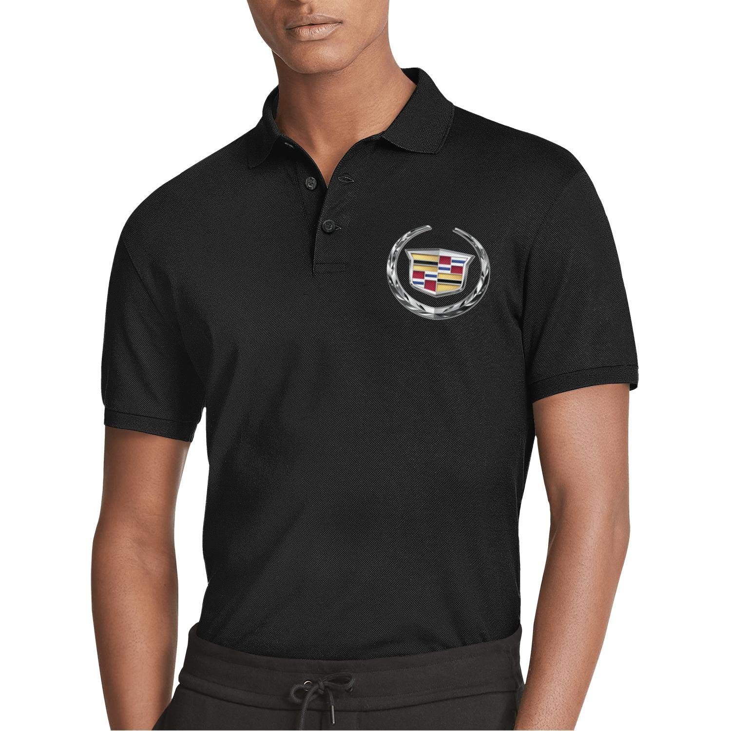 Spring Quick-Drying T Shirts COOLGOOD Man Classic Polo Shirt Cadillac-Dealer-Flag-Cars-Logo