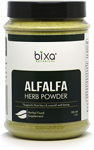 Alfalfa Powder Medicago Sativa , Supports Nutrition Overall Well-Being by Bixa Botanical – 7 Oz 200g