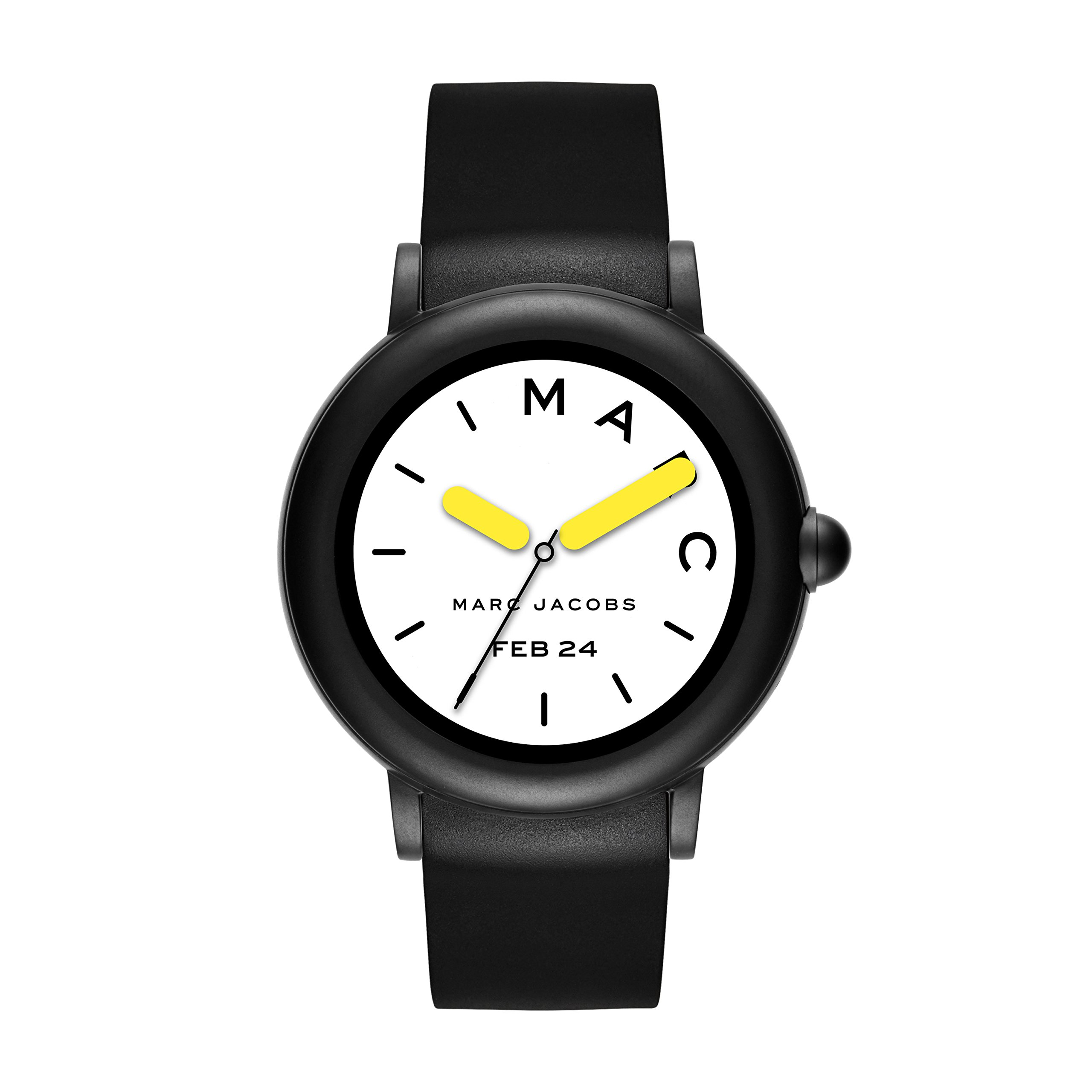 Marc Jacobs Womens Riley Touchscreen Smartwatch, Stainless Steel and Silicone Strap, Black (MJT2002) by Marc Jacobs
