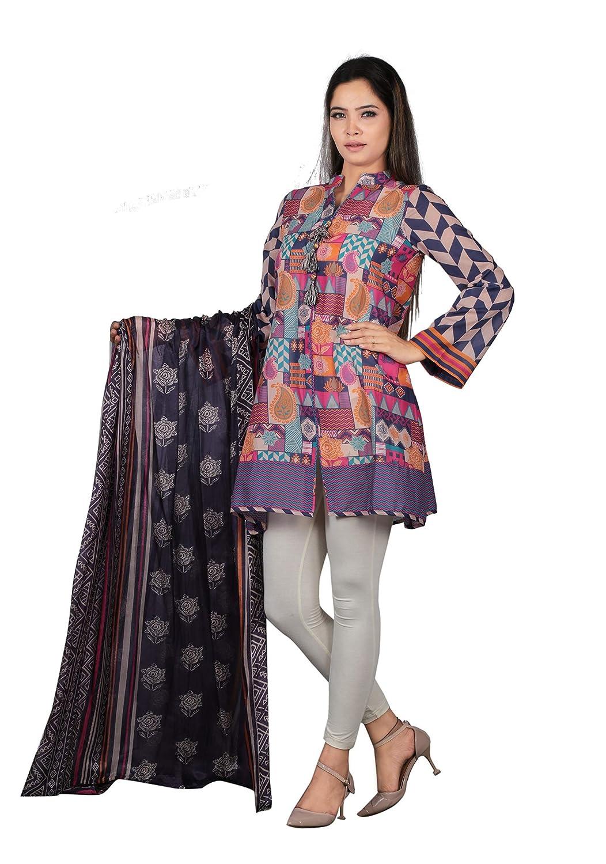 bluee Print YELLOW Readymade Women Kurta with Dupatta Partywear Tunic Top Kurti for Women