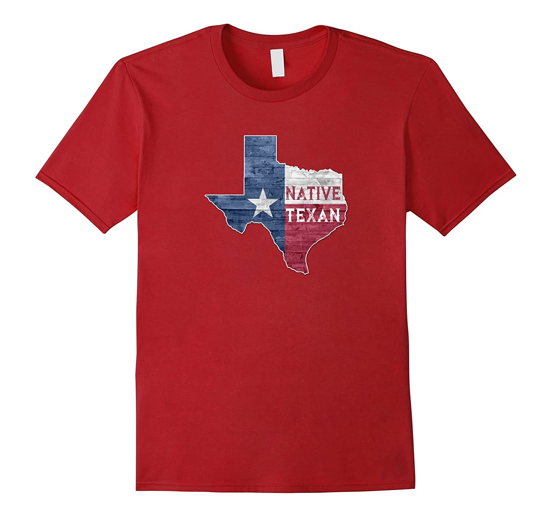 Native Texan Lone Star State of Texas Flag T-Shirt