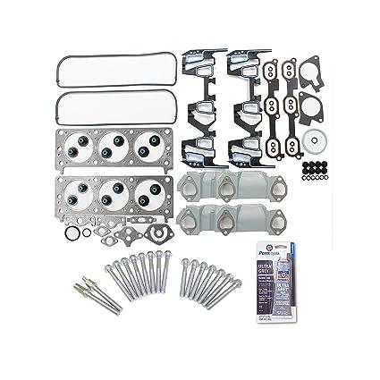 Head Gasket Set Head Bolt Kit Fits: Chevrolet Oldsmobile Pontiac 3 1 & 3 4  OHV 12V