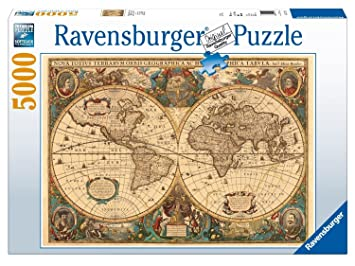 Ravensburger antique world map 5000pc jigsaw puzzle amazon ravensburger antique world map 5000pc jigsaw puzzle gumiabroncs Images
