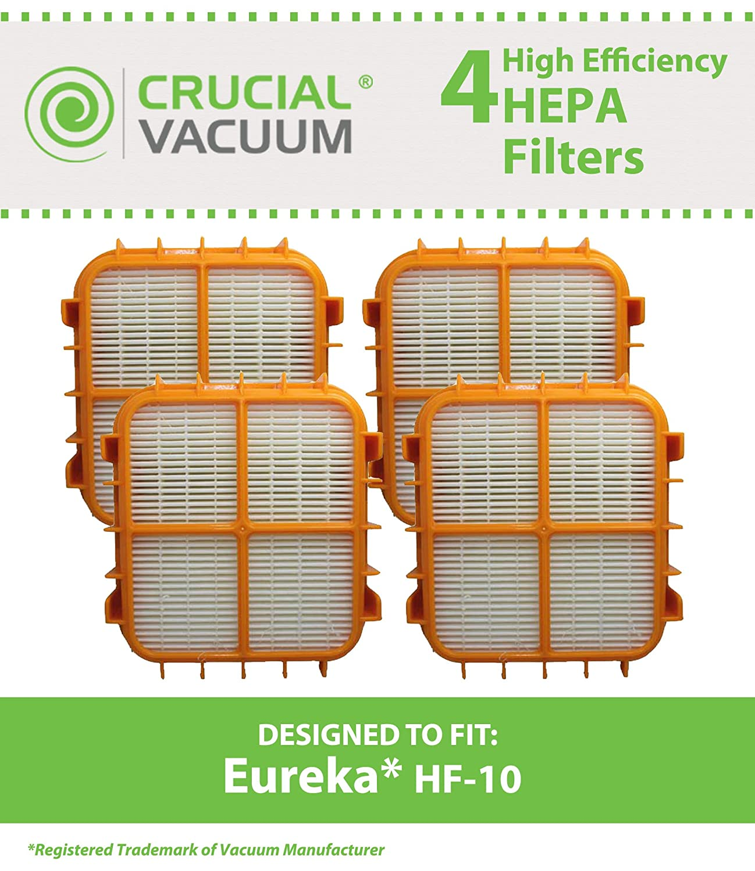 Designed /& Engineered By Crucial Vacuum HF-10 Upright Vacuum Cleaner Compare to part # 63347 4 Eureka HF10 HEPA Filters Fits Eureka HF10