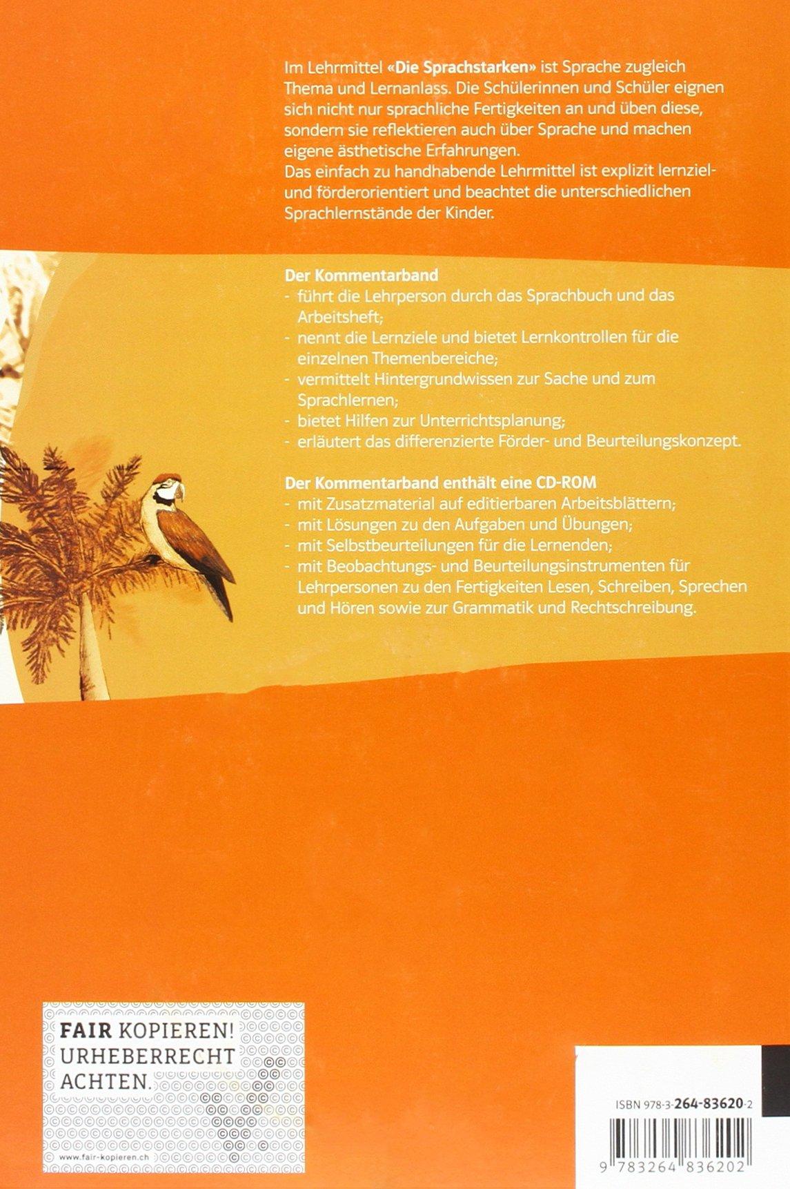 Die Sprachstarken 3. Klasse, Kommentarband m. CD-ROM: 9783264836202 ...