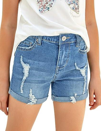 Luvamia Pantalones Cortos De Mezclilla Para Ninas De 4 A 13 Anos Amazon Com Mx Ropa Zapatos Y Accesorios