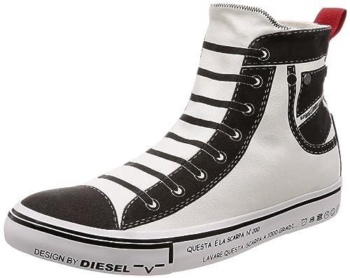 Diesel Deutschland - Zapatillas Altas de Material Sintético Mujer, Color Blanco, Talla 38 EU: Amazon.es: Zapatos y complementos