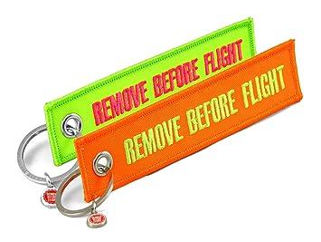 Remove Before Flight - 2 llavero - Colores de neón de Juego ...