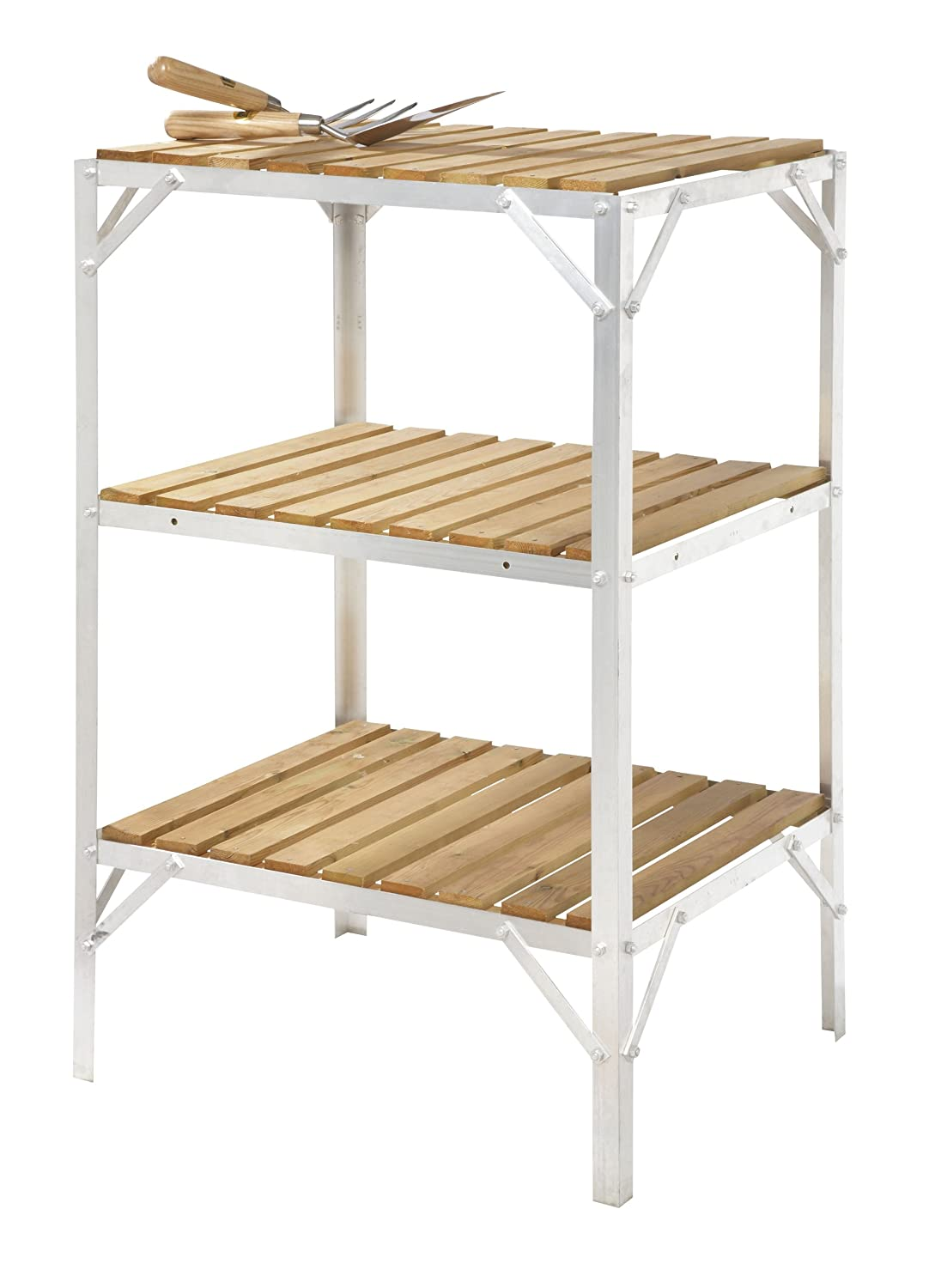 Greenhouse Staging / Bench Wooden Three Tier 18