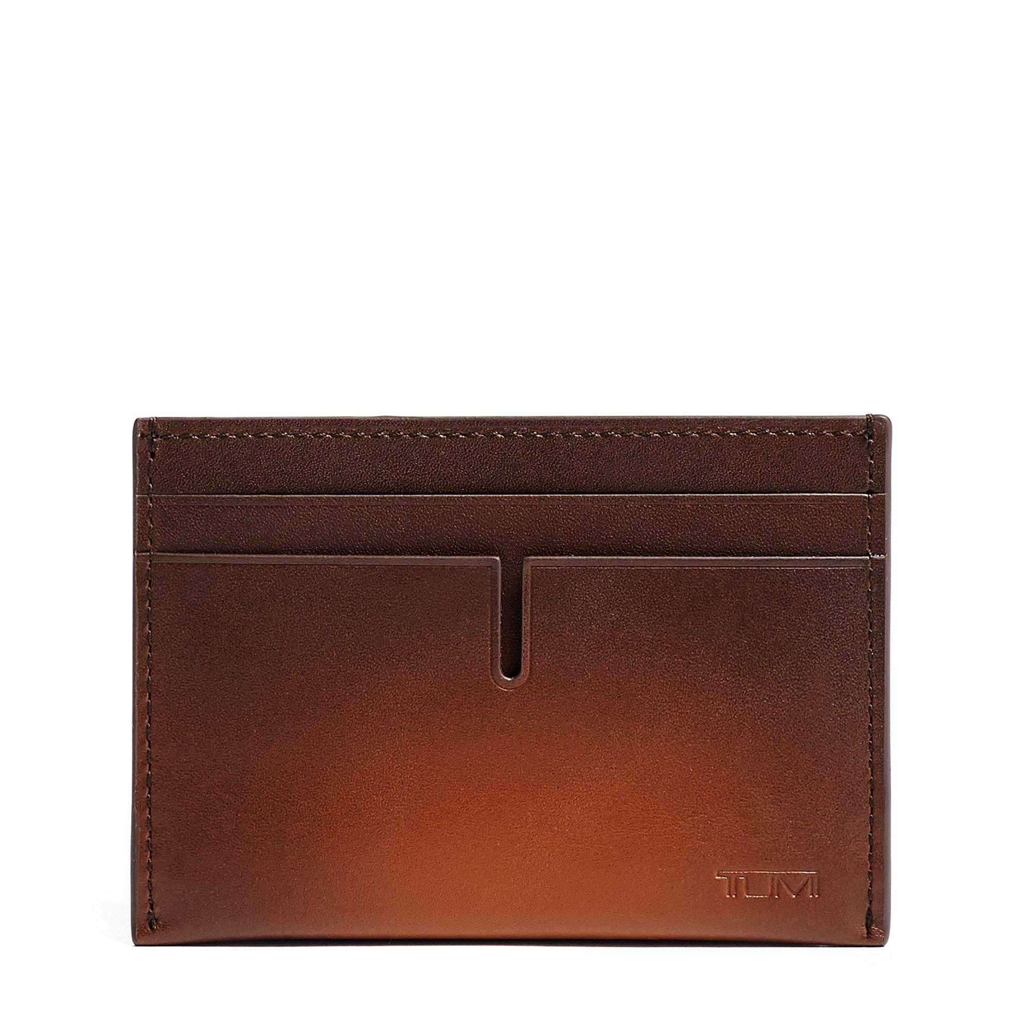 TUMI - Nassau Slim Card Case Wallet with RFID ID Lock for Men - Whiskey Burnished