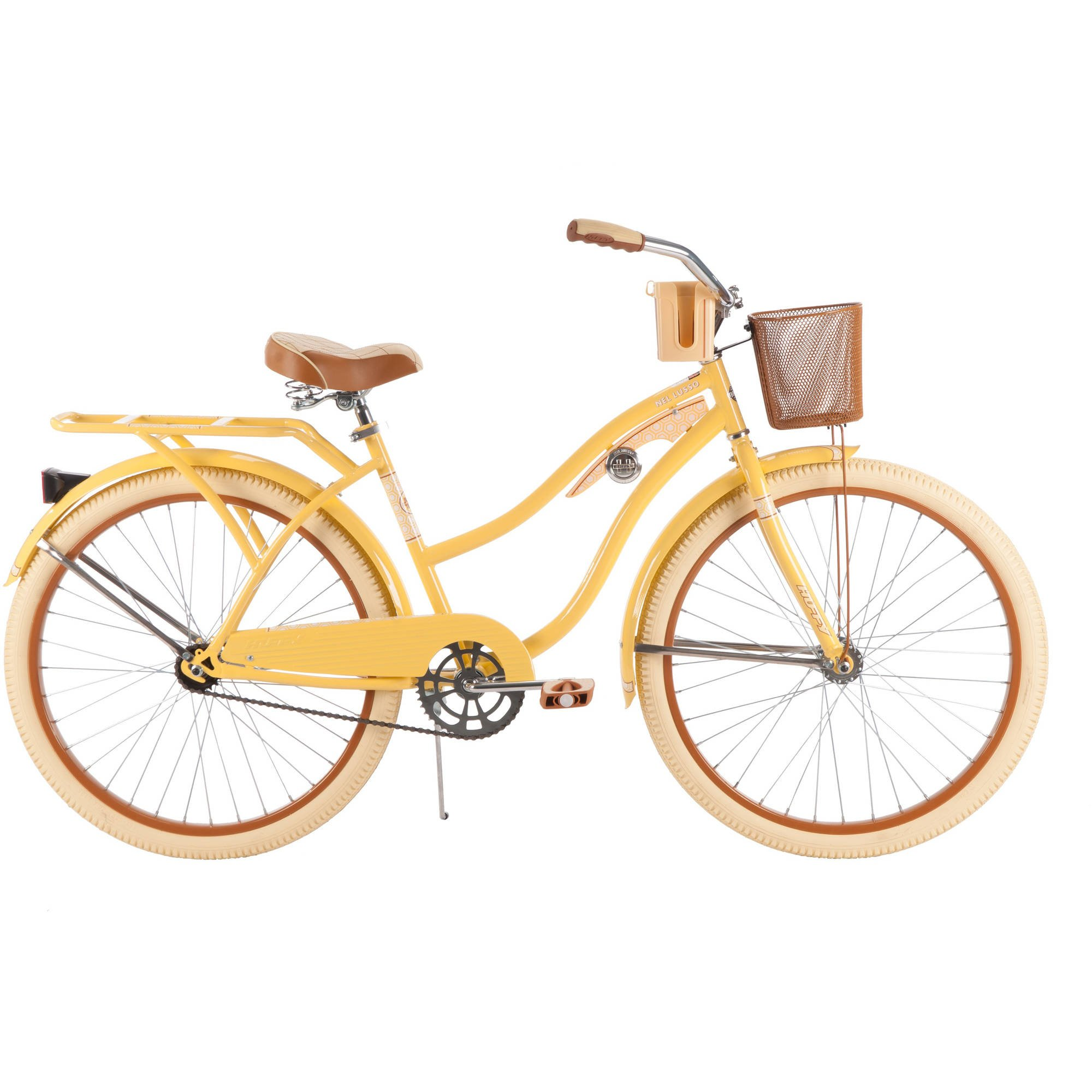 26'' Huffy Nel Lusso Women's Cruiser Bike, Yellow