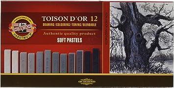 Koh-I-Noor Toison Dor - Estuche de Pinturas Pastel (12 Unidades) 8592G: Amazon.es: Juguetes y juegos