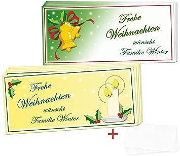 Weihnachtskarten Clipart.Weihnachtskarten Set Klassisch Mit Wunschtext 48 Teilig Ca 20 X 9 Cm 2 Motive Hochglanzkarten Inklusive Umschlägen