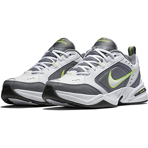 7b7e9a5fa5333 Nike Men's Air Monarch IV Athletic Shoe, White/White - Cool Grey -  Anthracite