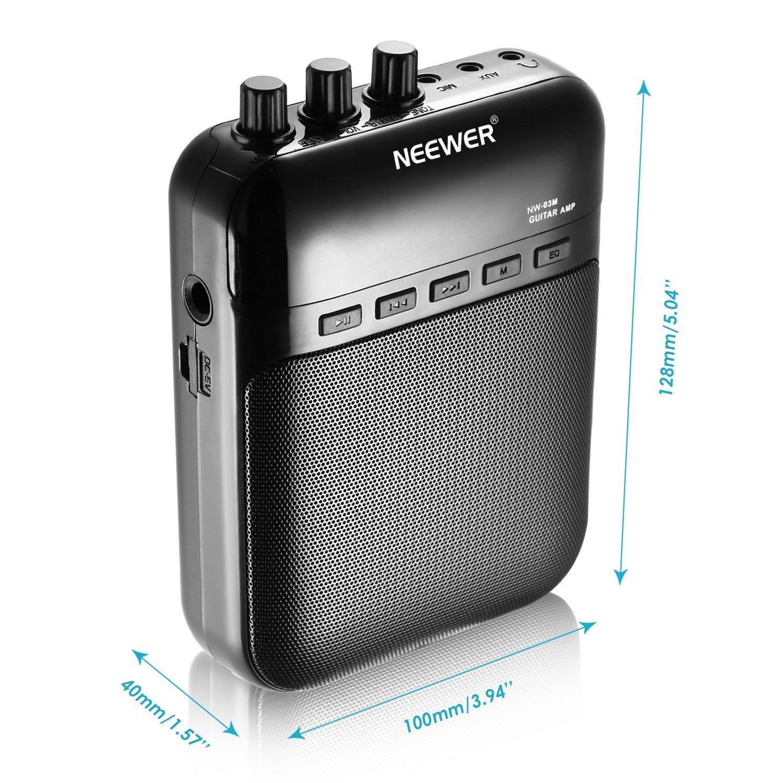 Neewer® NW-03M 5W dados electrónicos portátiles amplificadores de guitarra, grabadora, altavoz, amplificador de guitarra - Tarjeta TF externa de hasta 32G ...