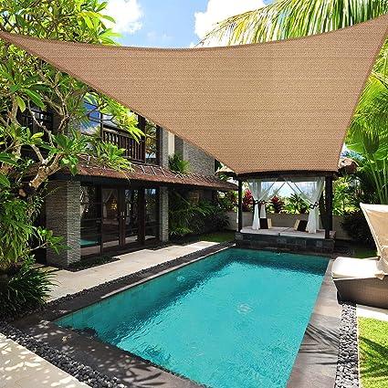 Amazon.com : BestFurniture Sun Shade Sail Permeable Rectangle Square ...