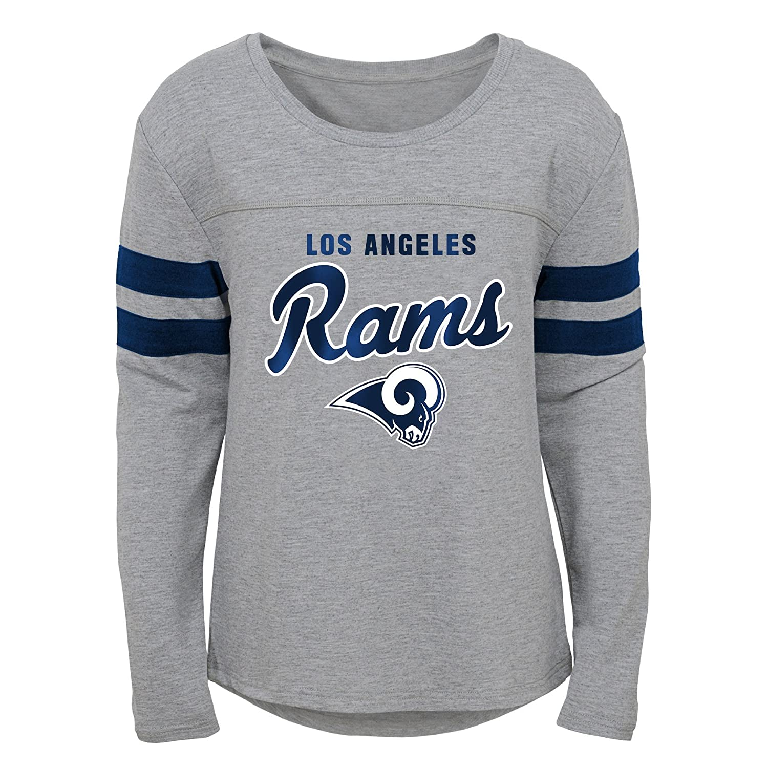 Outerstuff NFL NFL Los Angeles Rams Youth Girls Field Armor Long Sleeve Dolman Tee Heather Grey Youth X-Large 16