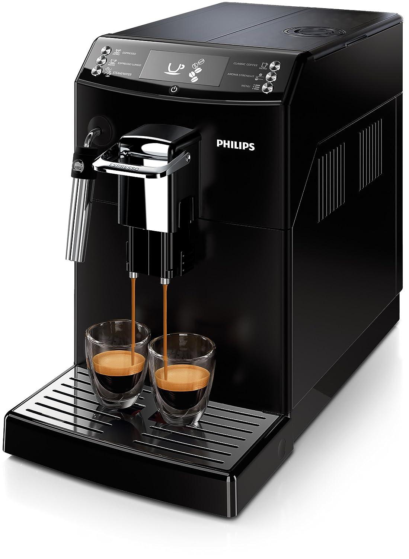 Philips Serie 4000 Máquina de café Espresso automática con espumador de leche clásico 0 W, 2 Cups, 0 Decibeles, plástico, Negro: Amazon.es: Hogar