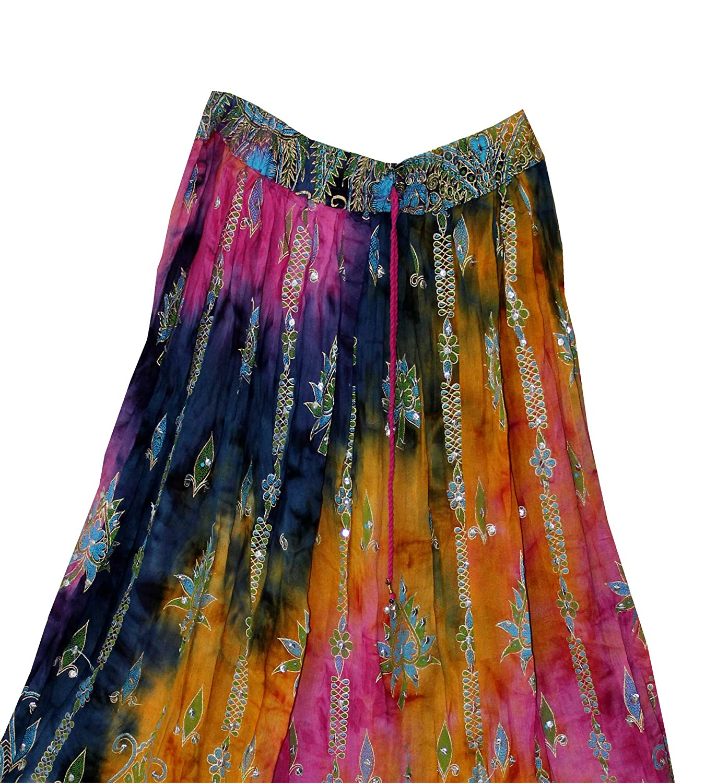 FOI Rayon Skirt Indian Hippie Rock Gypsy Jupe Retro Boho Falda Women Ethnic