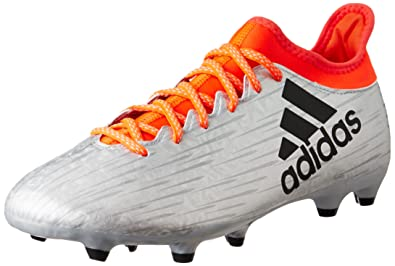 fcd5fc289bf adidas Performance Mens X 16.3 Firm Ground Soccer Football Boots - 7.5  Silver