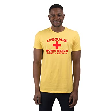 Herren Lifeguard Bondi Beach Sydney Australia Surfer Beach Kostüm T-Shirt:  Amazon.de: Bekleidung