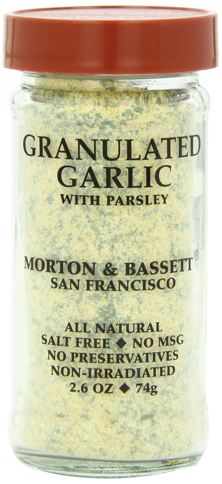 Morton & Basset Spices, Granulated Garlic with Parsley, 2.6 Ounce (Pack of 3)