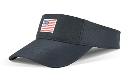 26ceaae7882 Tirrinia Unisex American Flag Sun Visor Adjustable Patriotic Sports Tennis  Golf Cap Navy