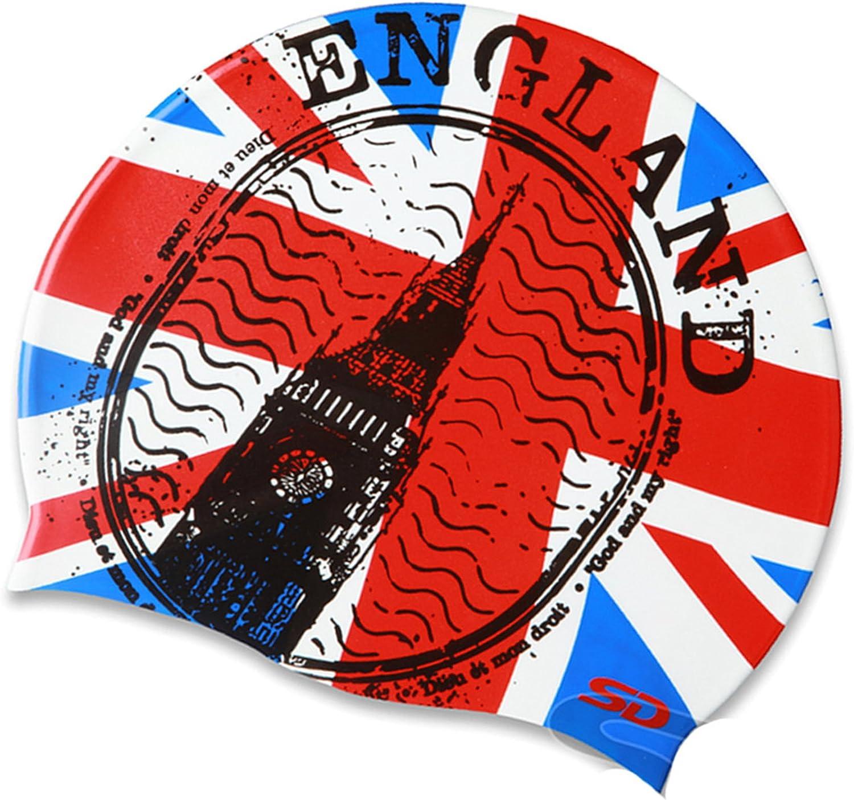 Gorra de natación de silicona con bandera de Inglaterra: Amazon.es: Deportes y aire libre
