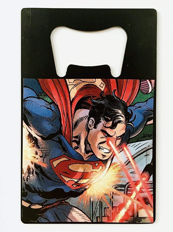 Handmade from Recycled Manga /& Comic Books Superman Bottle Opener /& Magnet