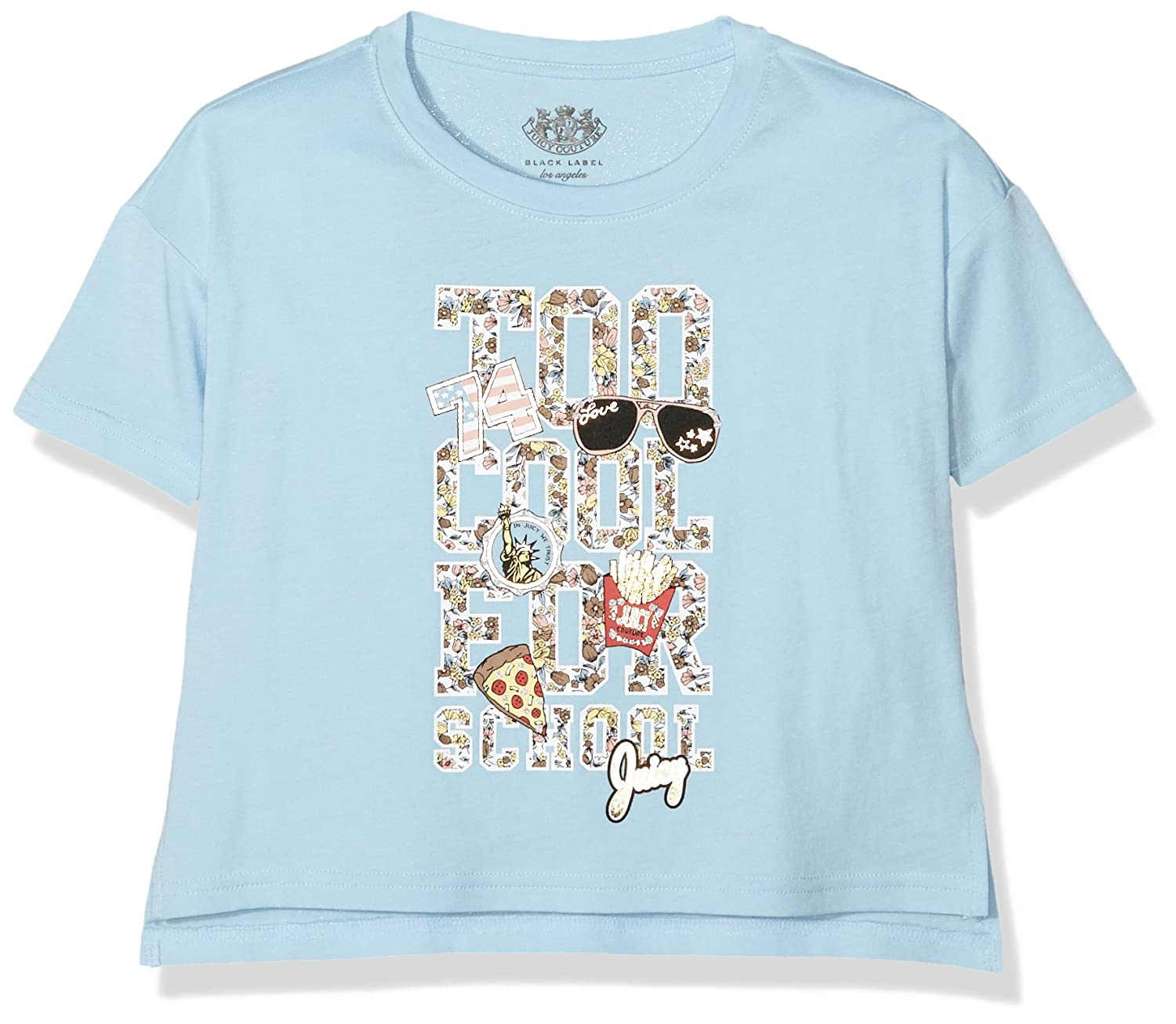 Juicy Couture Mädchen T-Shirt Knt Too Cool For School Tee