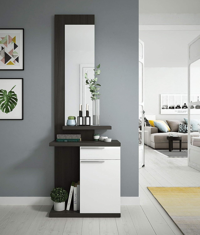 Habitdesign 016746G Kendra - Recibidor con espejo, mueble de ...