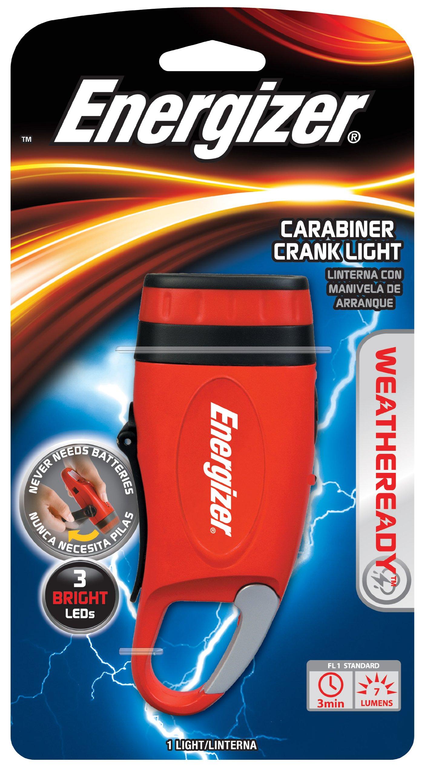 Energizer Weatheready 3 Led Carabineer Rechargeable Crank