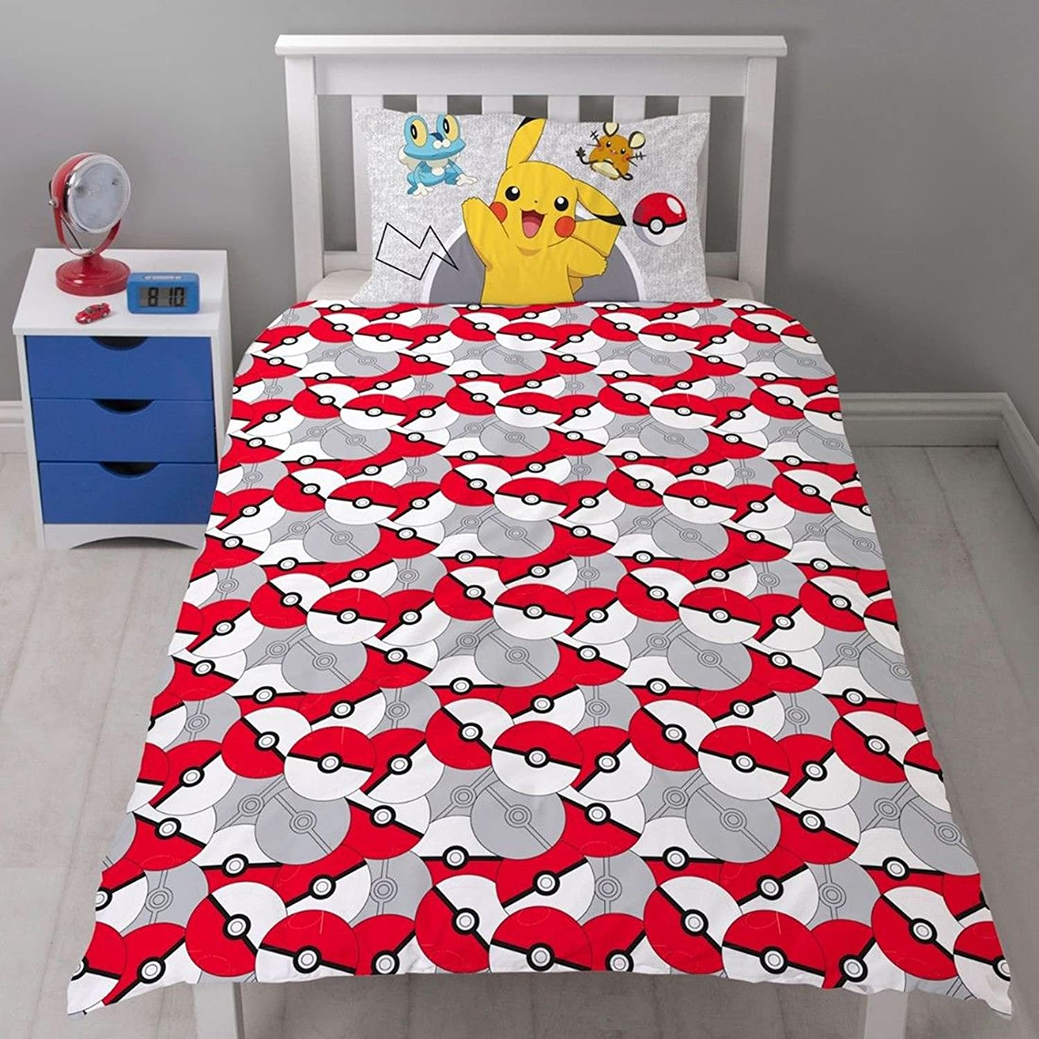 Pokemon Catch Single Duvet Cover Set + Matching 54 Curtains